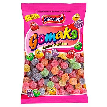Balas de Goma Jujuba Confeitadas Sortidas Gomaks R.1021 Pacote Com 1 Kilo