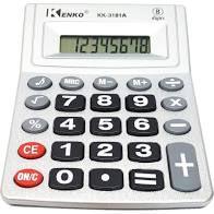 Calculadora Eletrônica 13cm x 10cm R.KK-3181A Unidade