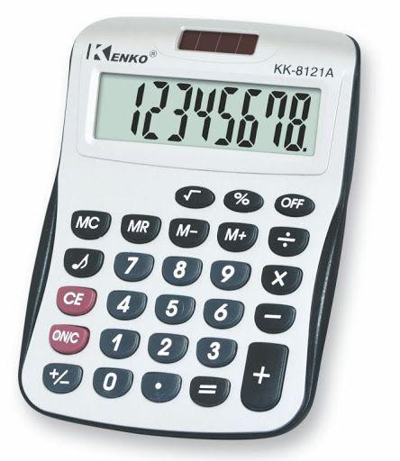 Calculadora Eletrônica 11cm x 15cm R.KK8121A Unidade