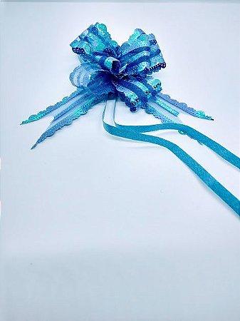 Laço Fácil Soft Liso Cor Azul 30mm (3cm x 48cm) R.2551200 Unidade