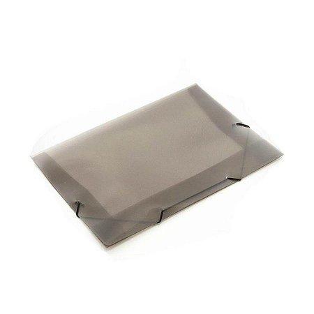 Mini Pasta Com Elástico Soft Com Aba Cor Fumê 18cm x 24cm R.160116 Unidade