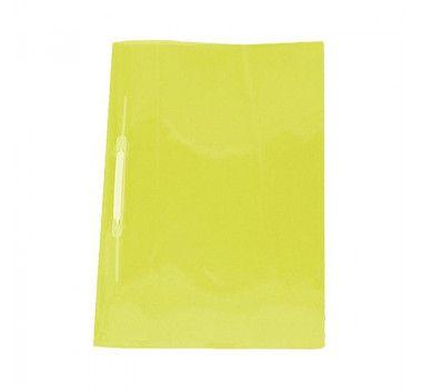 Pasta Com Trilho Ferragem Plástica Soft Cor Amarela Tamanho Ofício 23cm x 33cm R.160606 Unidade
