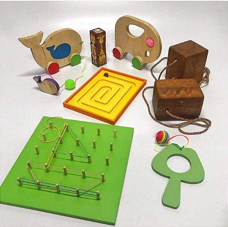 Kit Brinquedos de Madeira