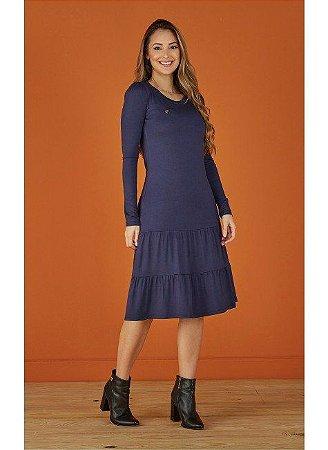 Vestido Beth Azul Marinho 8244 Tatá Martello