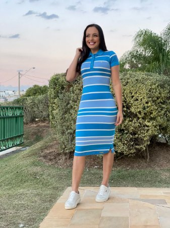 Vestido Polo Azul Kathlyn Rafaela 110043