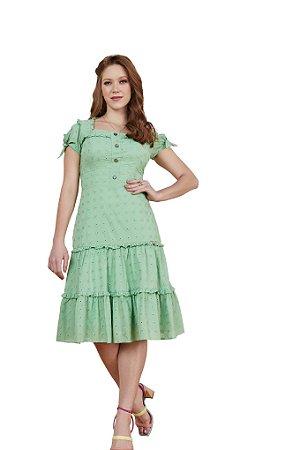 Vestido curto de laise com padronagens geométricas 3.00132 Fascínius