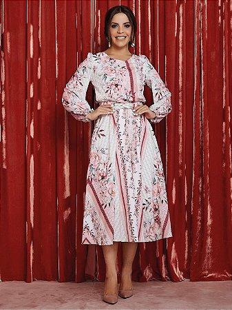Vestido Brenda V50745 Jany Pim - Moda Evangélica
