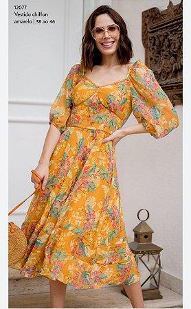 Vestido Chiffon 12077 Luzia Fazzolli - Moda Evangélica