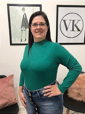 Blusa Verde Sorenzza - Moda Evangélica