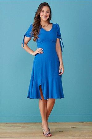Vestido Tata Martello Larissa Azul 7159 - Moda Evangélica