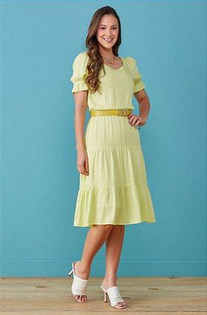 Vestido Tata Martello Paula Amarelo 7211 - Moda Evangélica