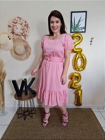 Vestido Rosa Tata Martello Catrina 7217 - Moda Evangélica
