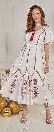 Vestido Charlotte 14993 Fascinius Moda Evangélica