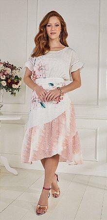 Vestido Fascíniu's Cassiana Rosa 15151Moda Evangélica