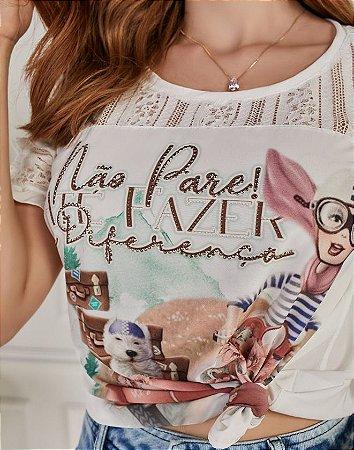 T-shirt Fascíniu's Marina 15461 Moda Evangélica
