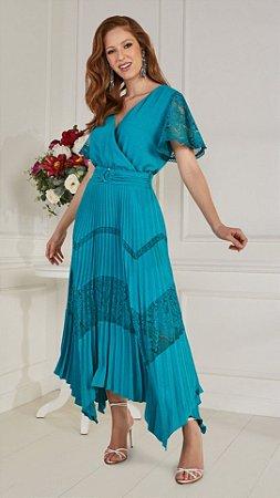 Vestido Fascíniu's Verena 15308 Moda Evangélica
