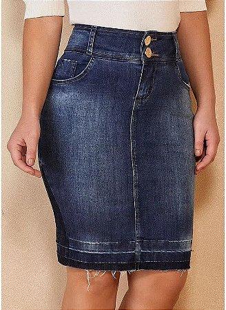 Saia Tradicional Jeans Titanium TTN25079