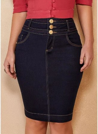 Saia 3 Cós Jeans Titanium 5105