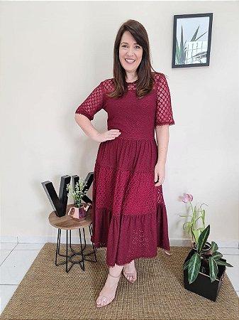 Vestido Malha Renda Laise Rendas 12226 - Luzia Fazzolli