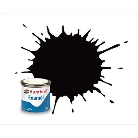 Humbrol - Enamel 085 - Coal Black - Satin