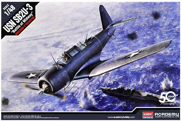 "Academy - USN SB2U-3 Vindicator ""Battle of Midway"" - 1/48"