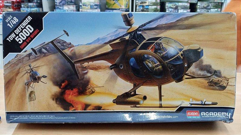 "Academy - Hughes 500D ""Israel Tow Defender"" - 1/48 (Sucata)"