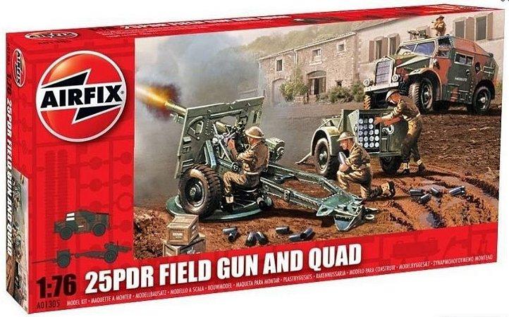 AirFix - 25PDR Field Gun & Quad - 1/76 (Sucata)