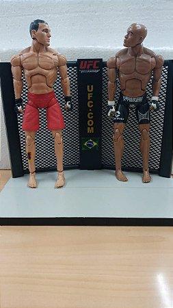 """Bonecos Artesanais - Série UFC: Anderson """"The Spider"""" Silva vs. Maurício """"Shogun"""" Rua"""