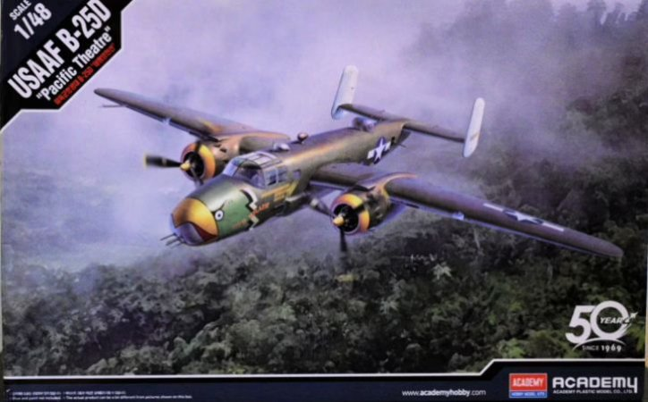 """Academy - B-25D """"Pacific Theatre"""" - 1/48"""