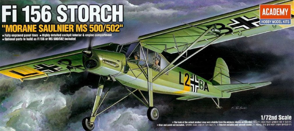 "Academy - Fieseler Fi-156 Storch ""Morane Saulnier MS500/502"" - 1/72"