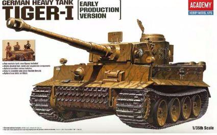 "Academy - German Heavy Tank Tiger-I ""Early Production Model"" - 1/35"