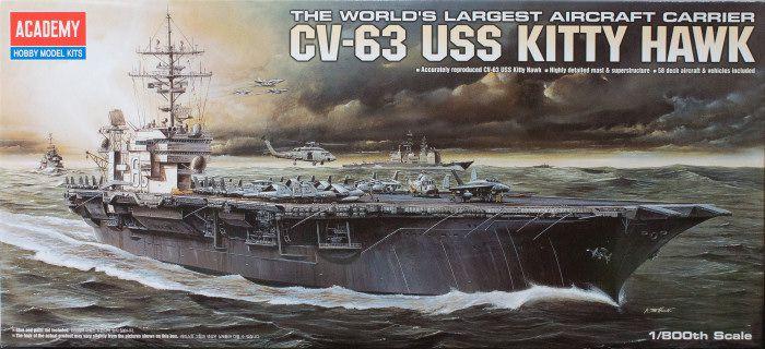 Academy - CV-63 USS Kitty Hawk - 1/800