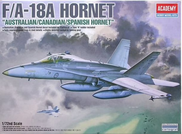 """Academy - F/A-18A Hornet """"Australian/Canadian/Spanish Hornet"""" - 1/72"""