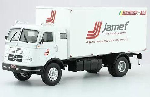 Ixo - Caminhão Mercedes-Benz LP331 1958-1968 - Transportadora Jamef - 1/43