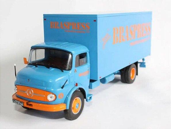 Ixo - Caminhão Mercedes-Benz L1113 - Transportadora Braspress - 1/43