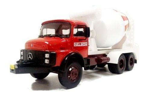 Ixo - Caminhão Mercedes-Benz LB-2213 Betoneira - Nélson Concreto - 1/43