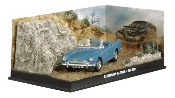Coleção James Bond 007 Eaglemoss - Sunbeam Alpine - 007 Contra o Satânico Dr. No - 1/43