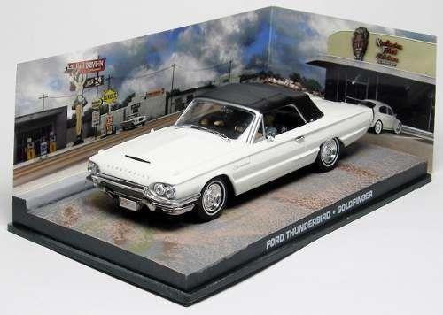 Coleção James Bond 007 Eaglemoss - Ford Thunderbird - 007 Contra Goldfinger - 1/43