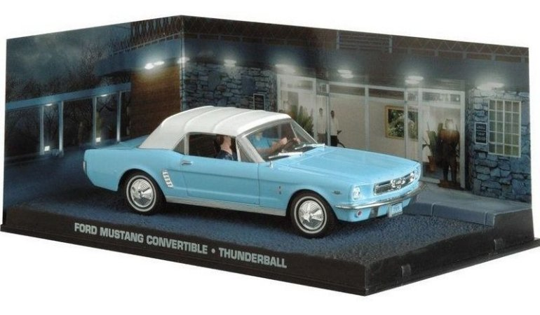 Coleção James Bond 007 Eaglemoss - Ford Mustang Convertible - 007 Contra a Chantagem Atômica - 1/43
