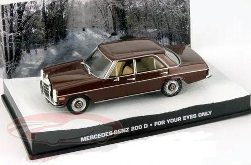 Coleção James Bond 007 Eaglemoss - Mercedes-Benz 200 D  - 007: Somente Para Seus Olhos - 1/43