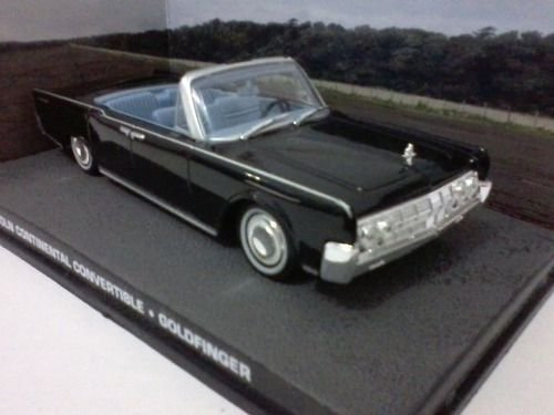 Coleção James Bond 007 Eaglemoss - Lincoln Continental Convertible - 007 Contra Goldfinger - 1/43