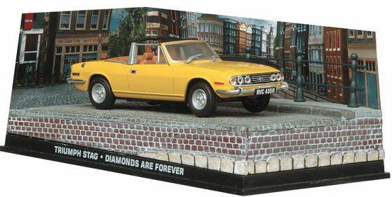 Coleção James Bond 007 Eaglemoss - Triumph Stag - 007: Os Diamantes São Eternos - 1/43