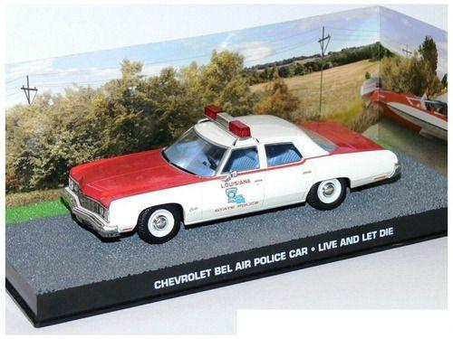 """Coleção James Bond 007 Eaglemoss - Chevrolet Bel-Air """"Louisiana State Police Car"""" - 007: Viva e Deixe Morrer - 1/43"""