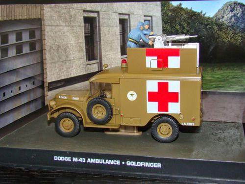 Coleção James Bond 007 Eaglemoss - Dodge M-43 Ambulance - 007 Contra Goldfinger - 1/43
