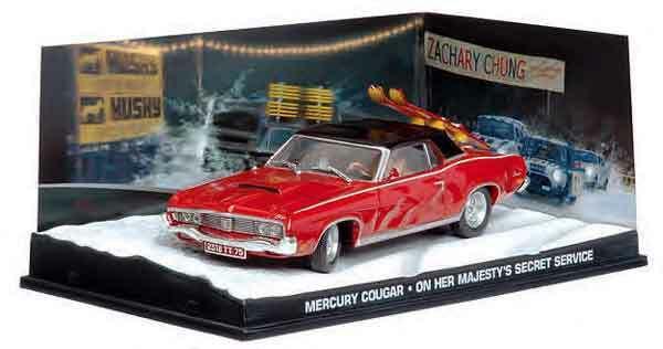 Coleção James Bond 007 Eaglemoss - Mercury Cougar - 007 À Serviço Secreto de sua Majestade - 1/43