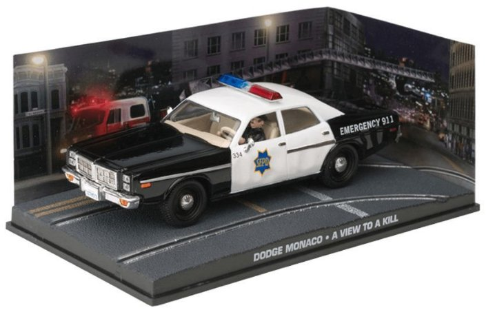 """Coleção James Bond 007 Eaglemoss - Dodge Monaco """"Polícia de São Francisco"""" - 007 Na Mira dos Assassinos - 1/43"""