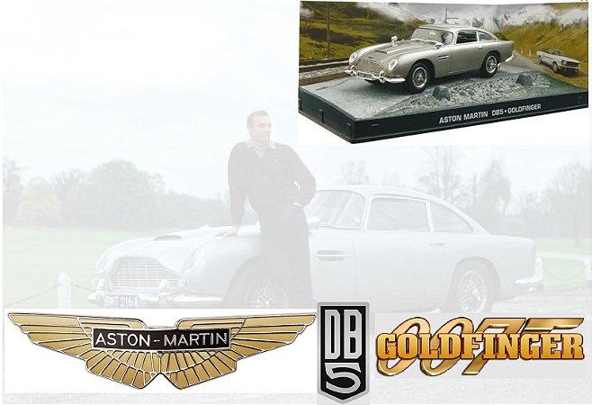 Coleção James Bond 007 Eaglemoss - Aston Martin DB5 - 007 Contra Goldfinger - 1/43