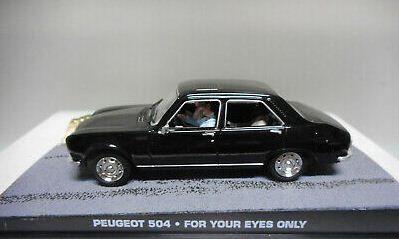 Coleção James Bond 007 Eaglemoss - Peugeot 504  - 007: Somente Para Seus Olhos - 1/43