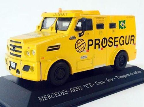 """Ixo - Mercedes-Benz 712E Carro Forte para Transporte de Valores """"Prosegur"""" - 1/43"""