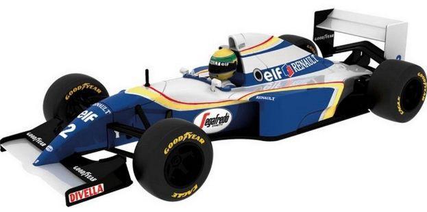 Coleção Lendas Brasileiras do Automobilismo Eaglemoss - Williams FW16 Renault - 1/43